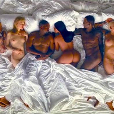 Famousle nouveau clip de Kanye West, c'est la grosse orgie !