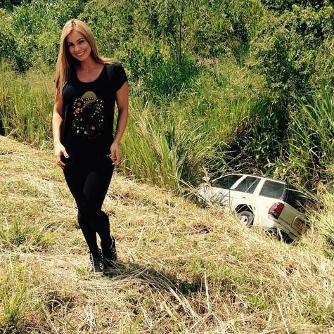 L'actrice X Esperanza Gomez, victime d'un accident de voiture à cause de ses pensées coquines